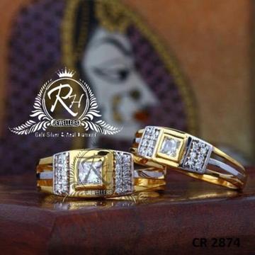 22 carat gold single dimond couple rings RH-CR814