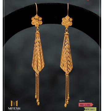FANCY NET LATKAN EARRINGS