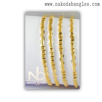 916 Gold Kanas Bangles NB - 1380