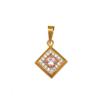 22K Gold Square Shaped Designer Pendant MGA - PDG0219