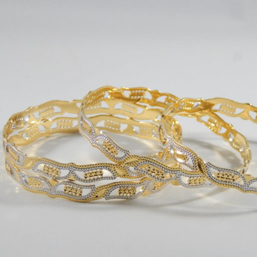 22Kt Yellow  Gold Influential Structure Bangles  for Women