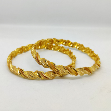 916 Gold Fancy Ladies Bangles