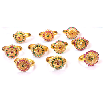 Fancy Color Stone Gold Rings NJA-R002