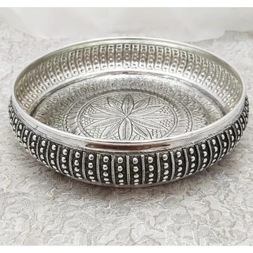 925 Pure Silver Antique Pooja Thali PO-263-35 by Puran Ornaments