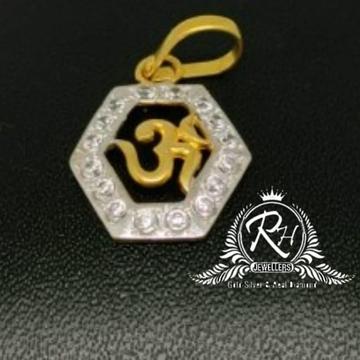 22 carat gold facny daimond om pendal RH-PL562