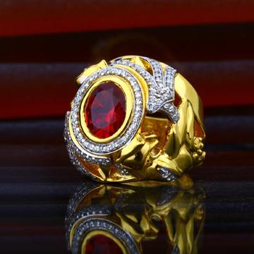 Nens Exclusive Colour Stone Designer 916 Gold Ring-MHR46