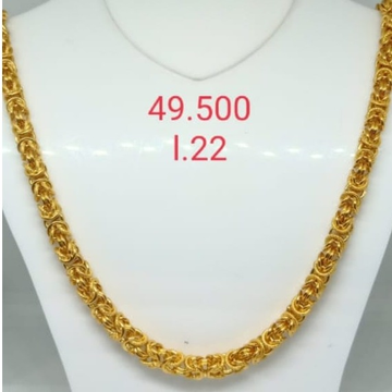 916 gold indo chain by