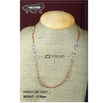 18 carat Italian ladies fancy gold chain exclusive chian ifg0037