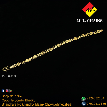 916 Gold Stylish Bracelet For Men ML-B04