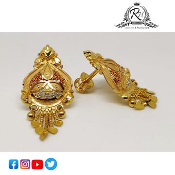 22 carat gold fancy ladies earrings RH-ER851