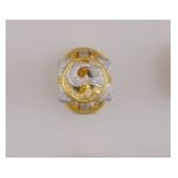 22K/916 Gold CZ gents ring