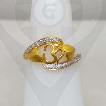 22KT Hallmark Gold Om Heart Design Ring  by Parshwa Jewellers