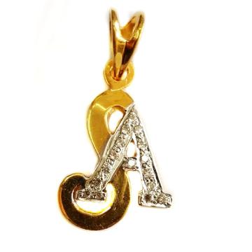 22k Gold SA Monogram Pendant MGA - MGP007