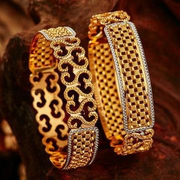 22KT/ 916 Gold Plain CNC Cutting wedding bangle fo... by