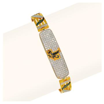 22KT Gold Classic Gents Bracelet RJA-014