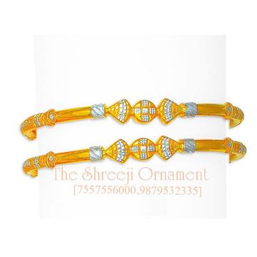 916 Gold Fancy Modhiya Copper Kadali - 0027