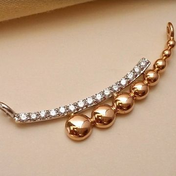 18KT Rose Gold office ware Mangalsutra pendant for... by