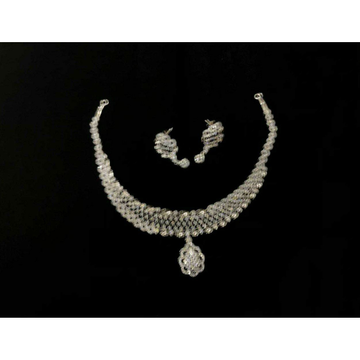 92.5 Sterling Silver Broad Necklace Set Ms-3936