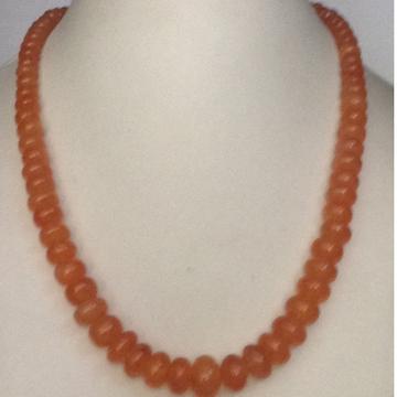 Natural Orange Corollion Flat Beeds Graded Mala
