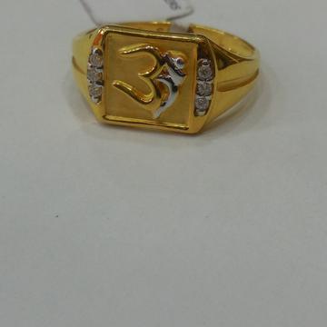 916 Gold Om Design Gents Ring