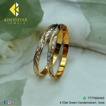 916 Gold Attractive Bangle For Women KJ-B005