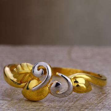 22KT Gold Women's Delicate Plain Ring LPR421