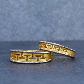 22K Desinger Plain Gold Couple Ring-CR27