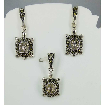 Exclusive marcasite 92.5 silver Pendant Set MG-P002