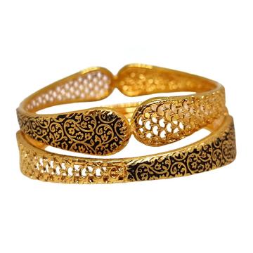 1 gram gold forming oxidised kadli bangles mga - kde0028
