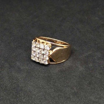 Real Diamond Rose Gold Branded Gents Ring