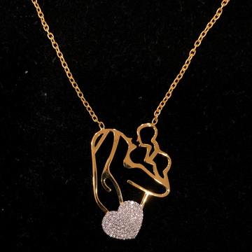 Gold heart shape pendant chain