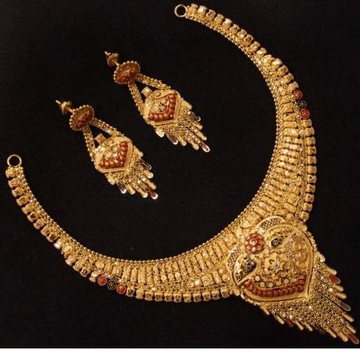 22 k 916 gold necklace with earrings by