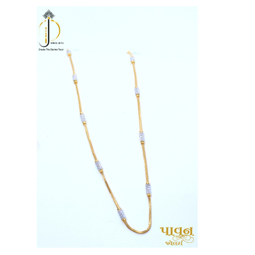 22KT / 916 Gold fancy rhodium chain for Ladies CHG0373