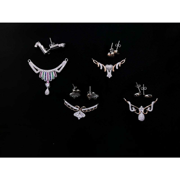 92.5 Sterling Silver Micro Rodyam Mangalsutra Pendant Set Ms-3958