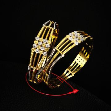 22k Hallmark Gold Unique Style Design Bangle by Pratima Jewellers
