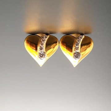 18 ct gold tops for heart shape ith diamond