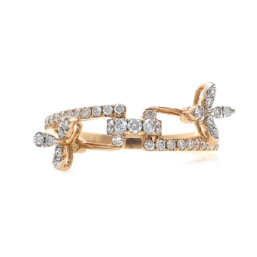 18kt / 750 rose gold fancy diamond ring 9lr196