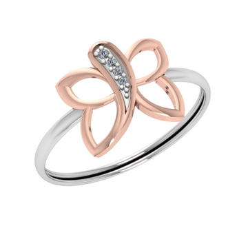 22K Gold Butterfly Design Ring For Women JJ-R06
