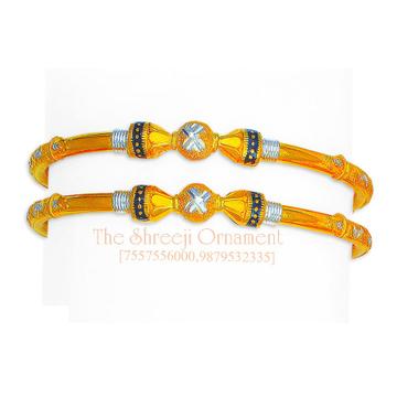 916 Gold Fancy Modhiya Copper Kadali - 0021