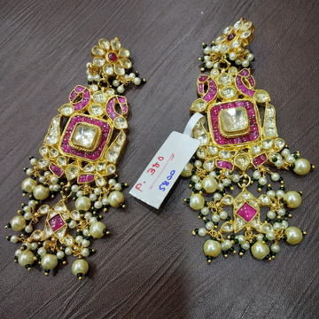 Peacock Earring With Kundan Setting