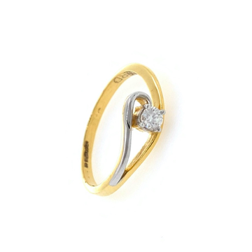 Classic solitaire diamond ring in 18k yellow gold - 1.730 gms - vvs ef 9 cents - 0lr73
