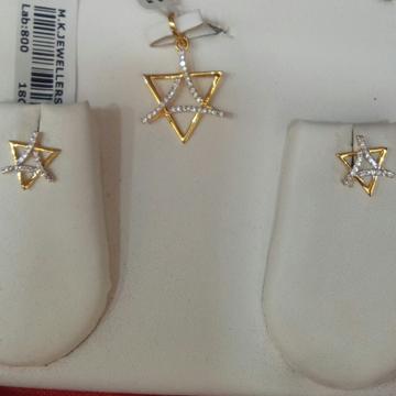 18kt Gold Pendant Set by