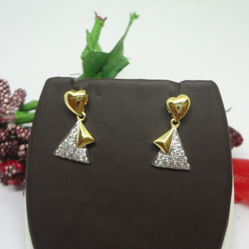 916 GOLD HEART CZ EARRINGS