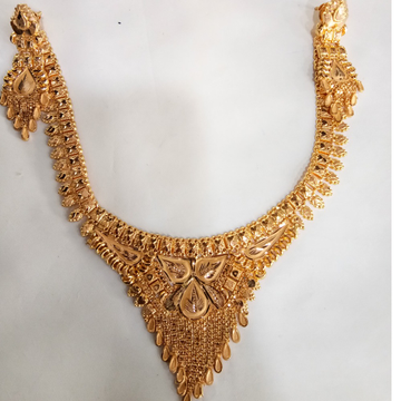 22 kt 916 gold necklace with earring by