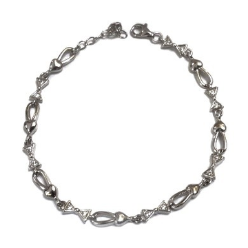 925 Sterling Silver Fancy Bracelet MGA - BRS0148