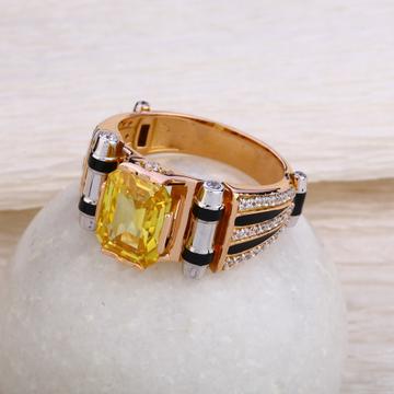 750 Rose Gold Designer Hallmark Men's  Ring RMR57
