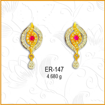 916 Gold CZ Fancy Earring ER-147