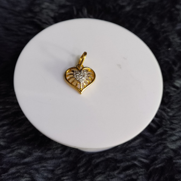22KT/916 Yellow Gold Heart Pendent  For Unisex