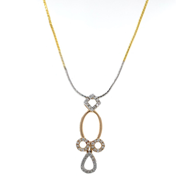 Delicate geometrical design diamond pendant in 18k rose gold 9shp37