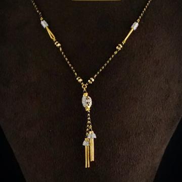 916 Gold Delicate Mani Moti Mangalsutra MPG0358